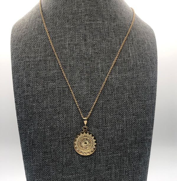 Sun Medallion Necklace WJ03