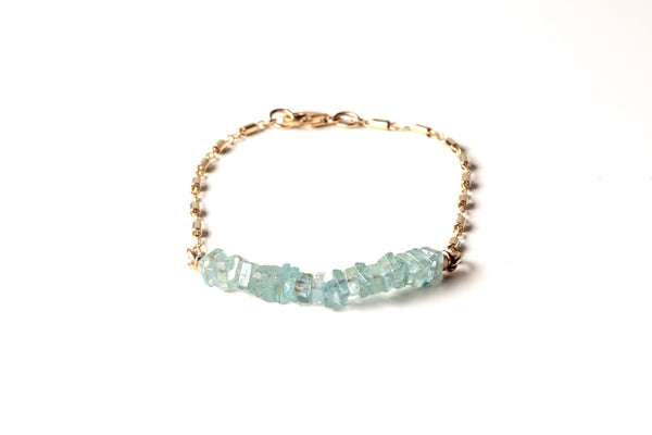 Aquamarine Candy Bar Bracelet