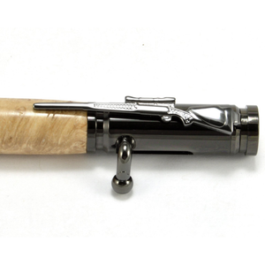 Maple Burl Bolt Action Wood Pen