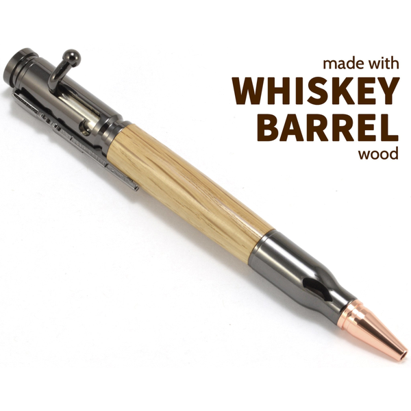 Bolt Action Whiskey Barrel Wood Pen