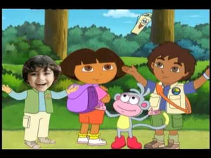 Dora and Diego Photo Personalized DVD