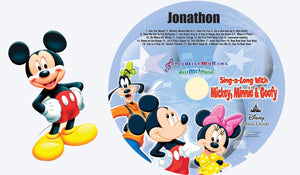 Personalized Mickey Mouse CD