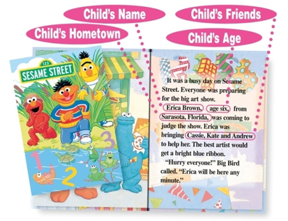 Children's Personalized Elmo Story Books