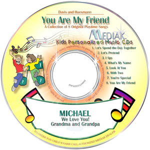 You Are My Friend Personalized Music CD - The Lollipop Guild