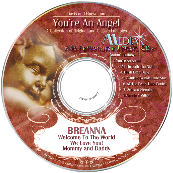 You're An Angel Personalized Lullaby Music CD - The Lollipop Guild