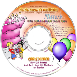Personalized Happy Birthday music cds for kids