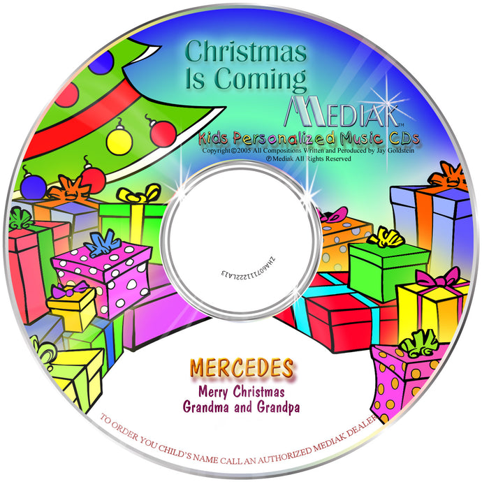 Personalized Christmas is Coming Music CD - The Lollipop Guild