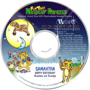 Personalized Nursery Rhymes CD for kids