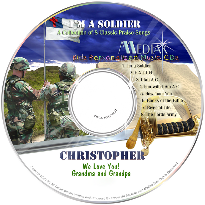 I'm a Soldier Personalized Christian Music CD - The Lollipop Guild