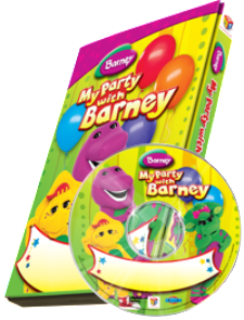 "Photo Personalized Barney™ DVD ""My Party with Barney"" - The Lollipop Guild"