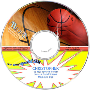 Personalized Sports Basketball CD for tweens
