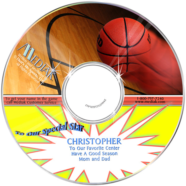 Personalized Sports Basketball CD - The Lollipop Guild