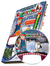 Photo Personalized Christmas Cartoon DVD for kids