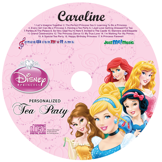 Disney™ Princesses Personalized Music CD - The Lollipop Guild