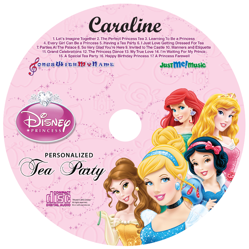 Children's Personalized Disney Princesses Music CD