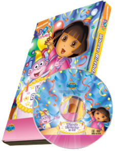 "Photo Personalized ""Whose Birthday Is It? Dora the Explorer™ DVD - The Lollipop Guild"