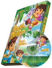 Load image into Gallery viewer, Photo Personalized Dora, Diego and Me!™ DVD - The Lollipop Guild