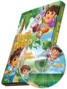 Photo Personalized Dora, Diego and Me!™ DVD - The Lollipop Guild