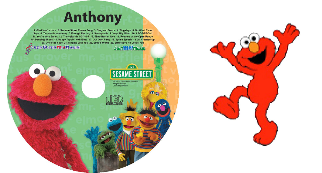Personalized Elmo Music CD and Digital Download for kids