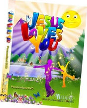 Load image into Gallery viewer, Personalized Jesus Loves You DVD (no Lyrics) - The Lollipop Guild