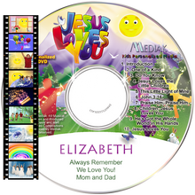 Load image into Gallery viewer, Personalized Christian Music Video DVD for kids