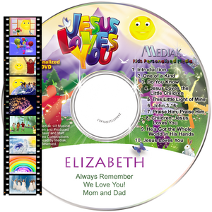 Personalized Christian Music Video DVD for kids