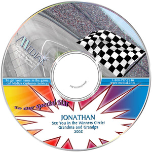 Personalized Sports Nascar Racing CD - The Lollipop Guild
