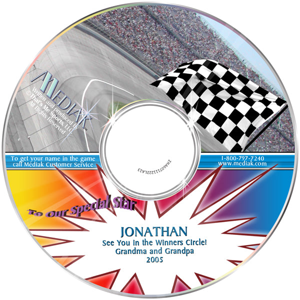 Personalized Nascar Sports CD