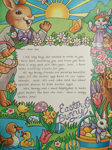 Personalized Letter from the Easter Bunny - The Lollipop Guild
