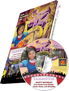 Photo Personalized Snow White DVD - The Lollipop Guild