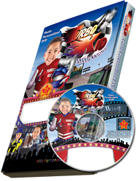 Photo Personalized Turbo Kid DVD - The Lollipop Guild