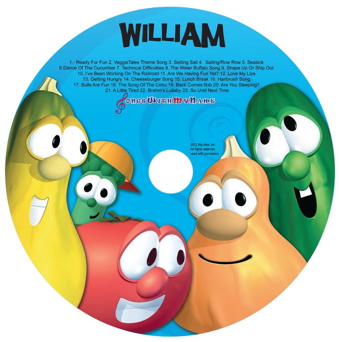 Personalized Veggie Tales™ Silly Songs Music CD