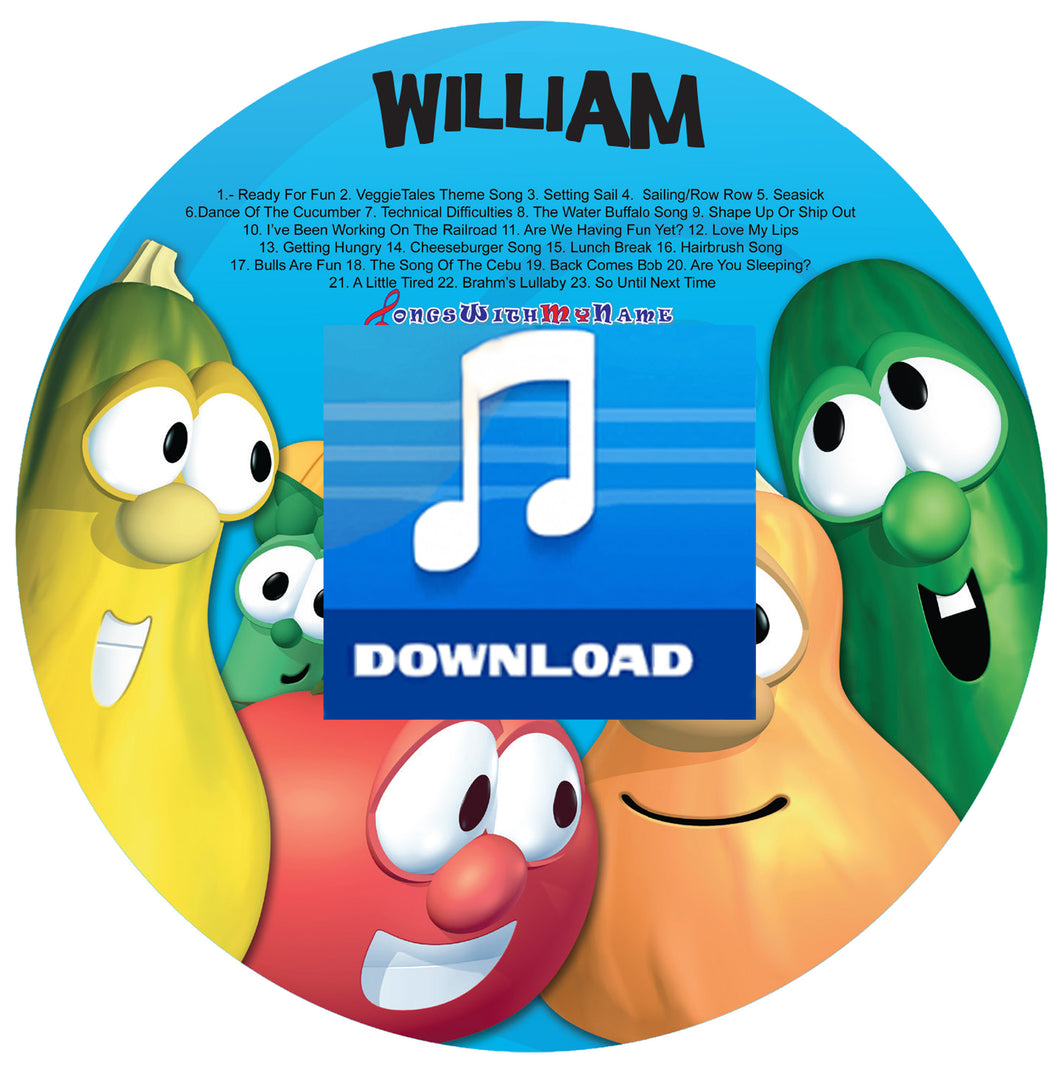 Personalized Veggie Tales™ Digital Music Silly Songs Music