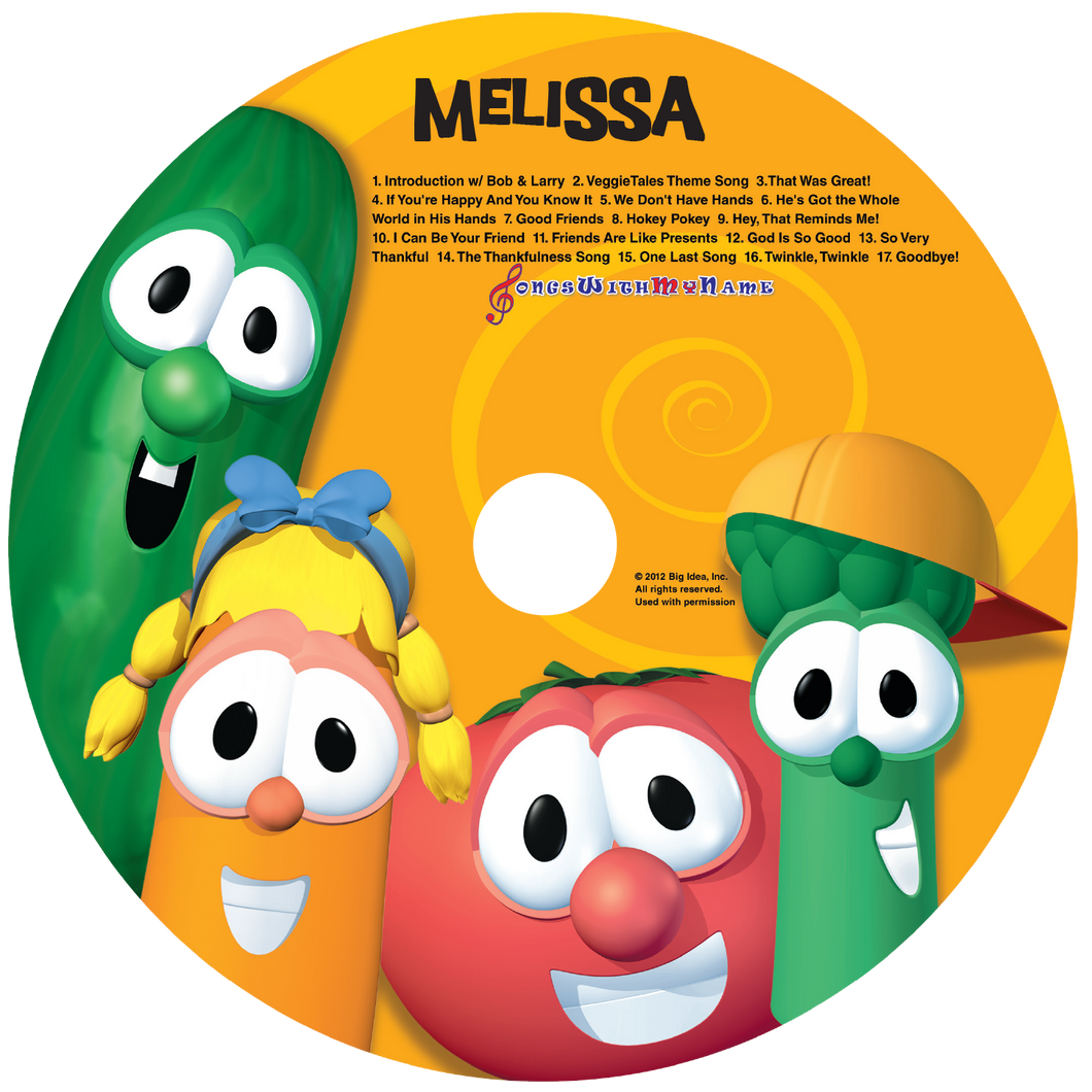 Personalized Veggie Tales™ Music CD - The Lollipop Guild