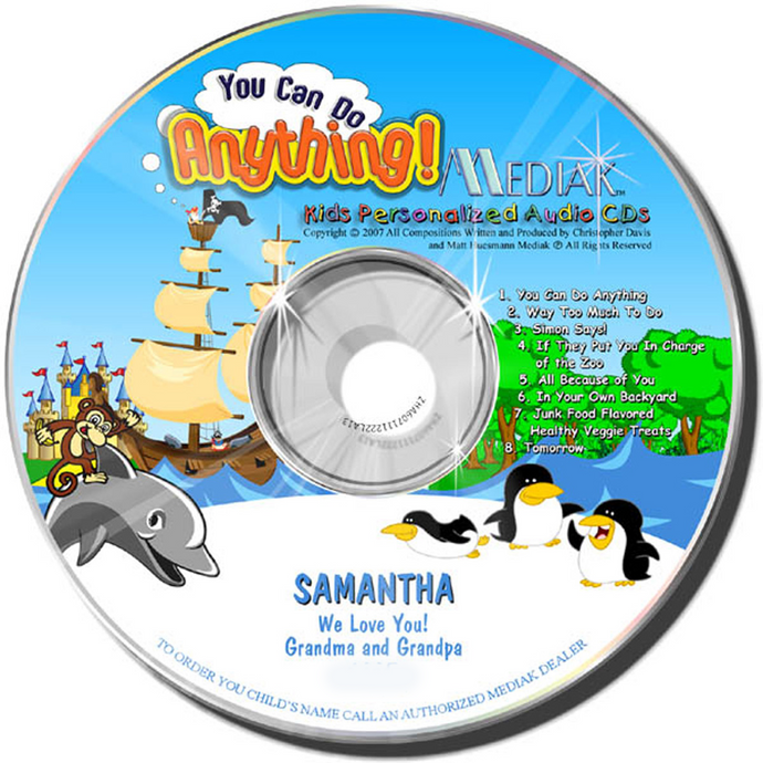 Personalized You Can Do Anything Music CD - The Lollipop Guild