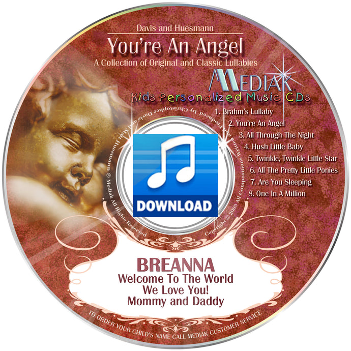 You're An Angel Personalized Lullabies Digital Download