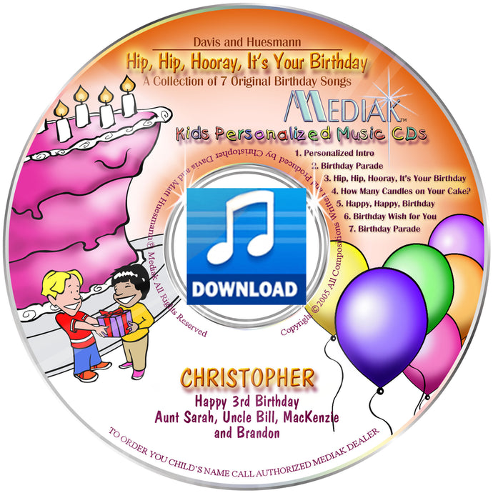 It's Your Birthday Personalized Digital Download Music