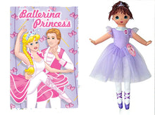 Load image into Gallery viewer, Dance with Me Ballerina Purple Doll and Ballerina Princess Personalized Book