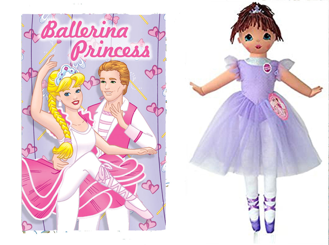 Dance with Me Ballerina Purple Doll and Ballerina Princess Personalized Book