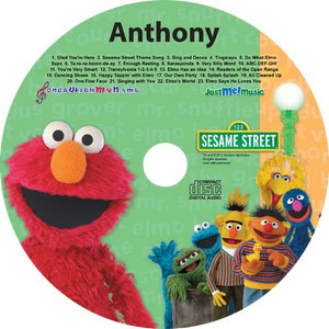Elmo™ Personalized Music CD - The Lollipop Guild