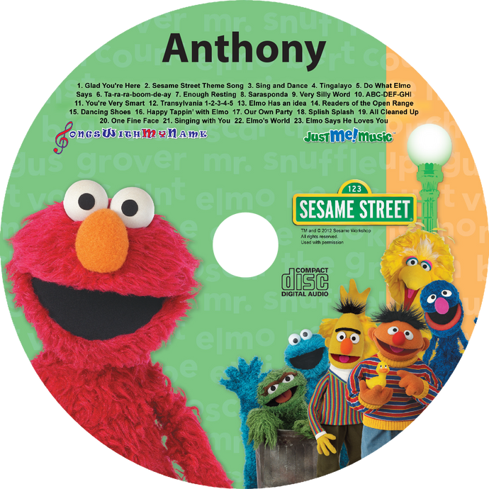 Personalized Elmo Music CD for kids