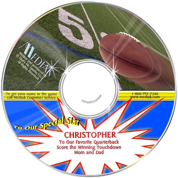 Personalized Sports Football CD for kids