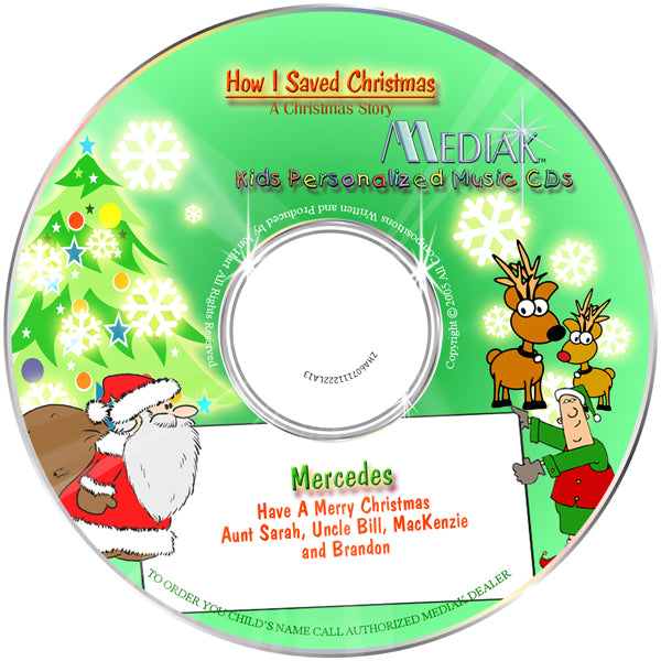 Personalized Christmas Story Music CD for children