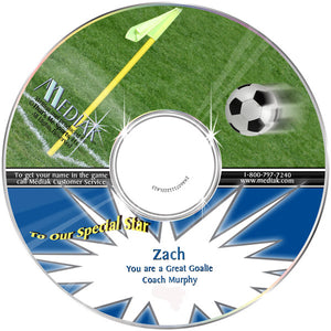 Personalized Sports Soccer CD