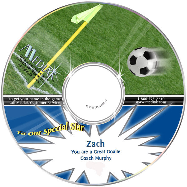 Personalized Sports Soccer CD - The Lollipop Guild
