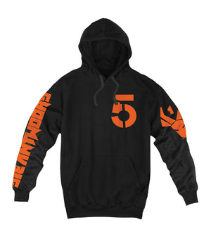 Die Antwoord DA5 Hooded Sweatshirt (Black / Orange)