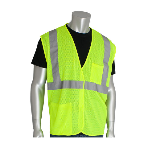 ANSI Class R2 Two-Pocket Mesh Safety Vest