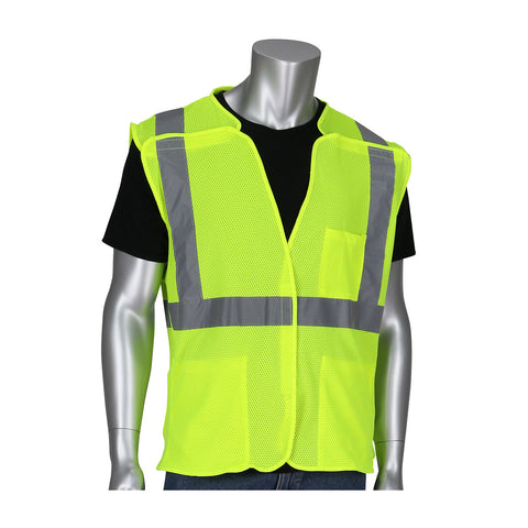 Class R2 3-Pocket Mesh Breakaway Vest - Yellow