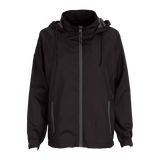 Vansport Ladies Packable Club Jacket-Black/Dark Grey