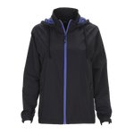 Vansport Ladies Packable Club Jacket-Black/Royal